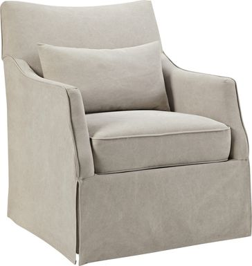 Kleberg Beige Accent Chair