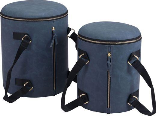 Koek Dark Blue Ottoman, Set of 2
