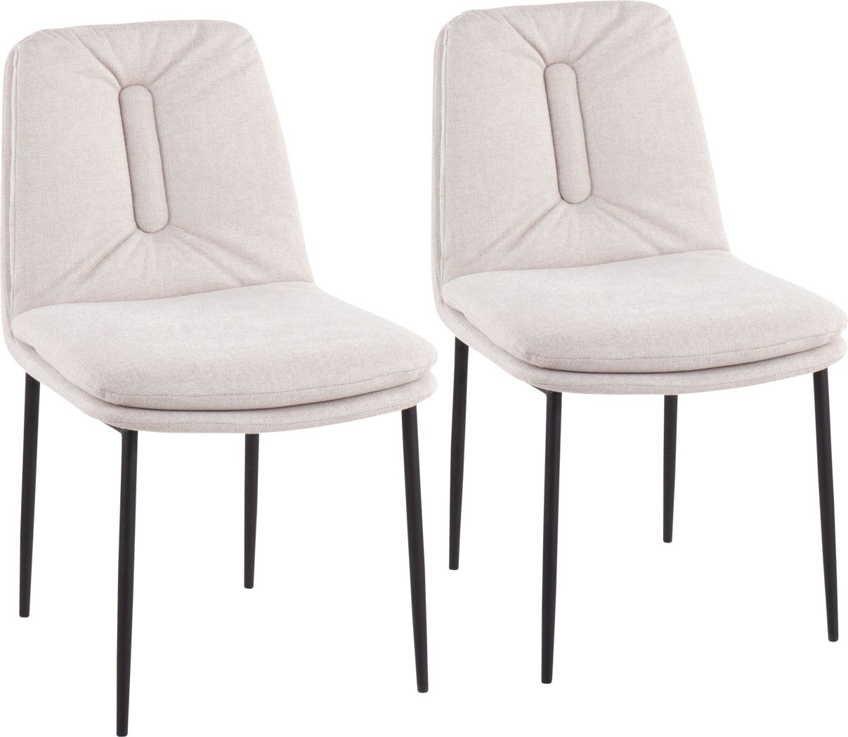 Kraemar Cream Side Chair, Set of 2