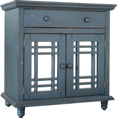 Kristansand Blue Accent Cabinet