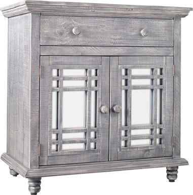 Kristansand Gray Accent Cabinet