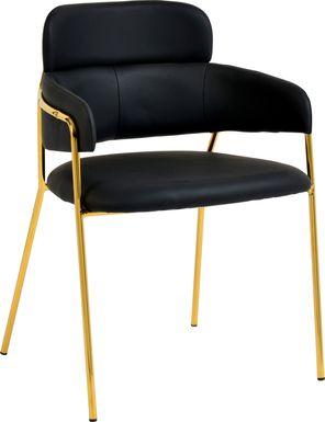 Kune Black Arm Chair, Set of 2
