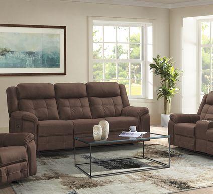 Kusel Brown 3 Pc Reclining Living Room