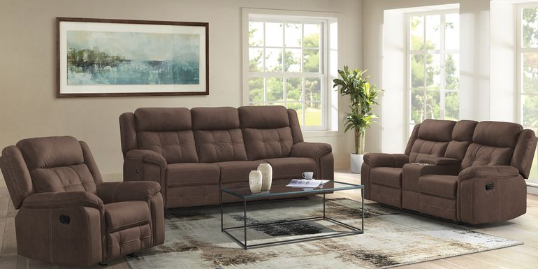 Kusel Brown 3 Pc Reclining Living Room