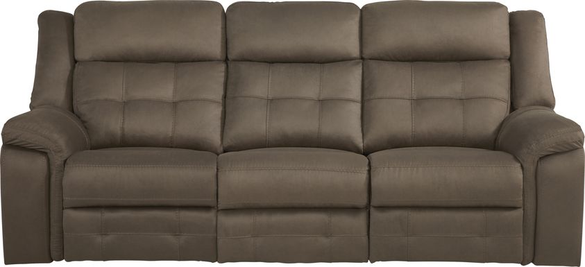 Kusel Brown Reclining Sofa