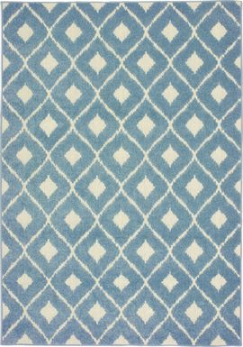 Kylian Blue 6'7 x 9'6 Indoor/Outdoor Rug