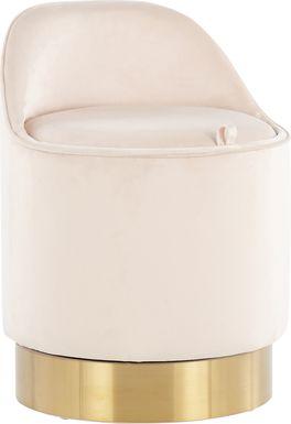 Kylman Cream Vanity Stool