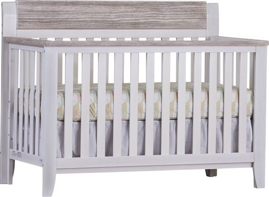 Lachlan White Convertible Crib with Toddler Rail