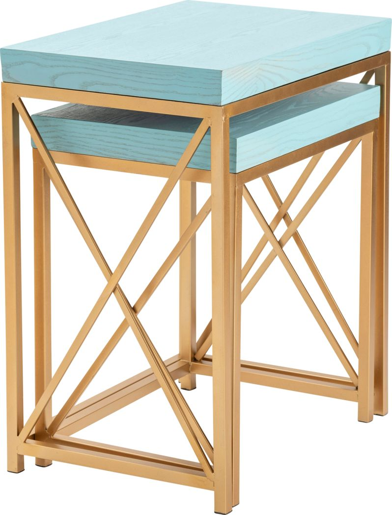 Ladurl Blue Nesting Tables, Set of 2