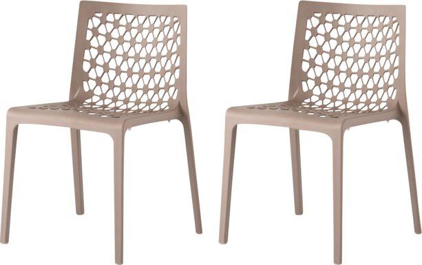 Lagoon Milan Gray Outdoor Dinning Chair, Set of 2