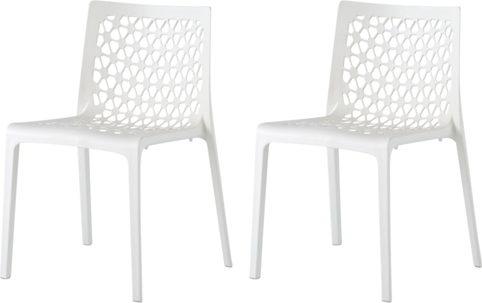 Lagoon Milan White Outdoor Dinning Chair, Set of 2
