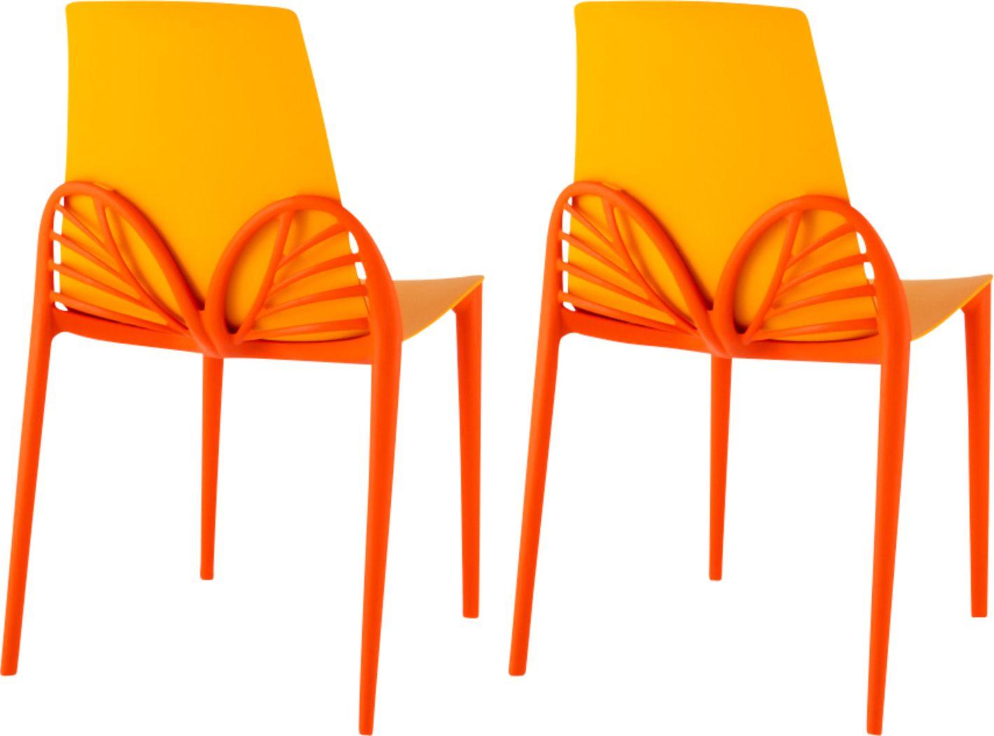 Lagoon Papillon Gold Outdoor Dinning Chair, Set of 2