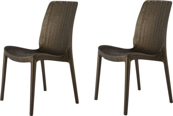 Lagoon Rue Bronze Outdoor Dining Chair, Set of 2