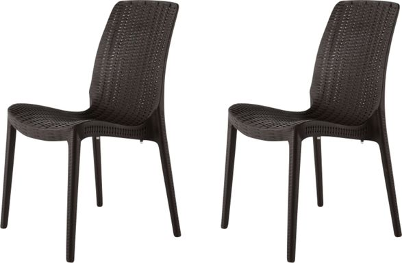 Lagoon Rue Brown Outdoor Dining Chair, Set of 2