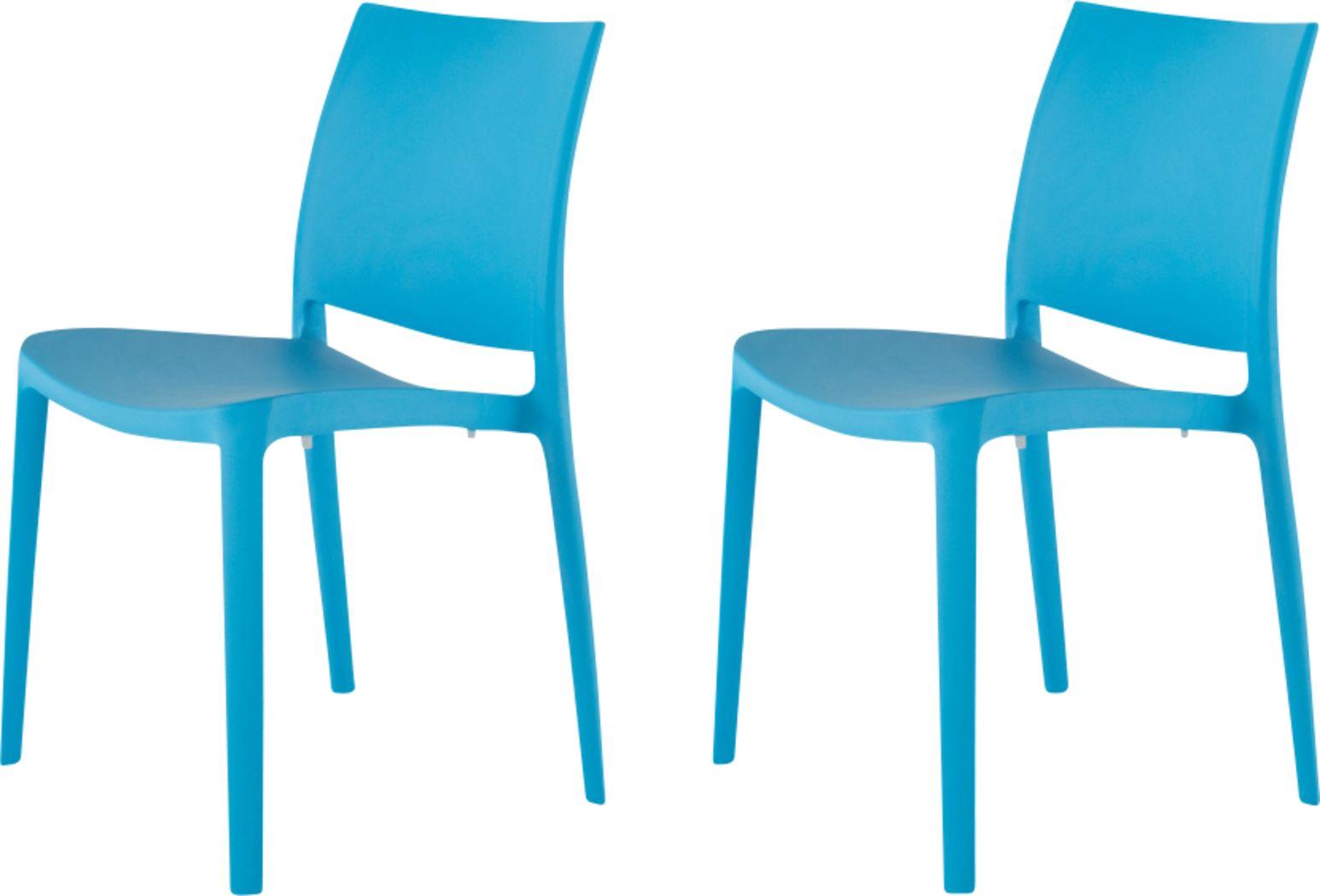 Lagoon Sensilla Blue Outdoor Dinning Chair, Set of 2