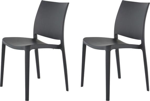 Lagoon Sensilla Dark Gray Outdoor Dinning Chair, Set of 2