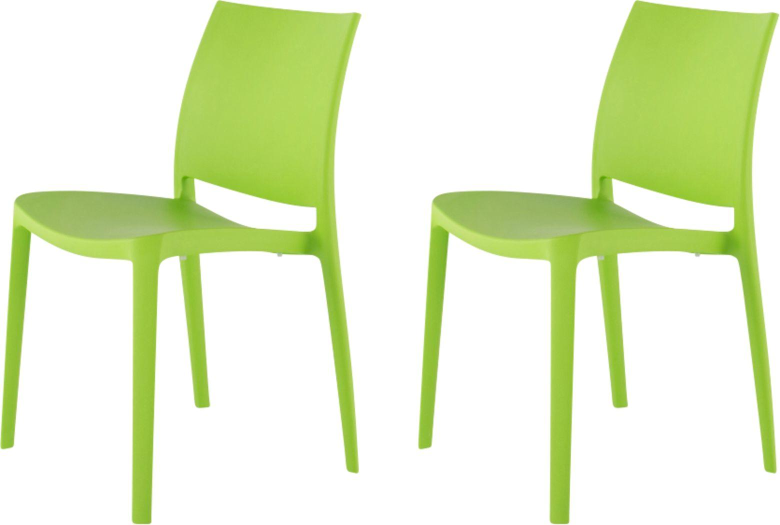 Lagoon Sensilla Green Outdoor Dinning Chair, Set of 2