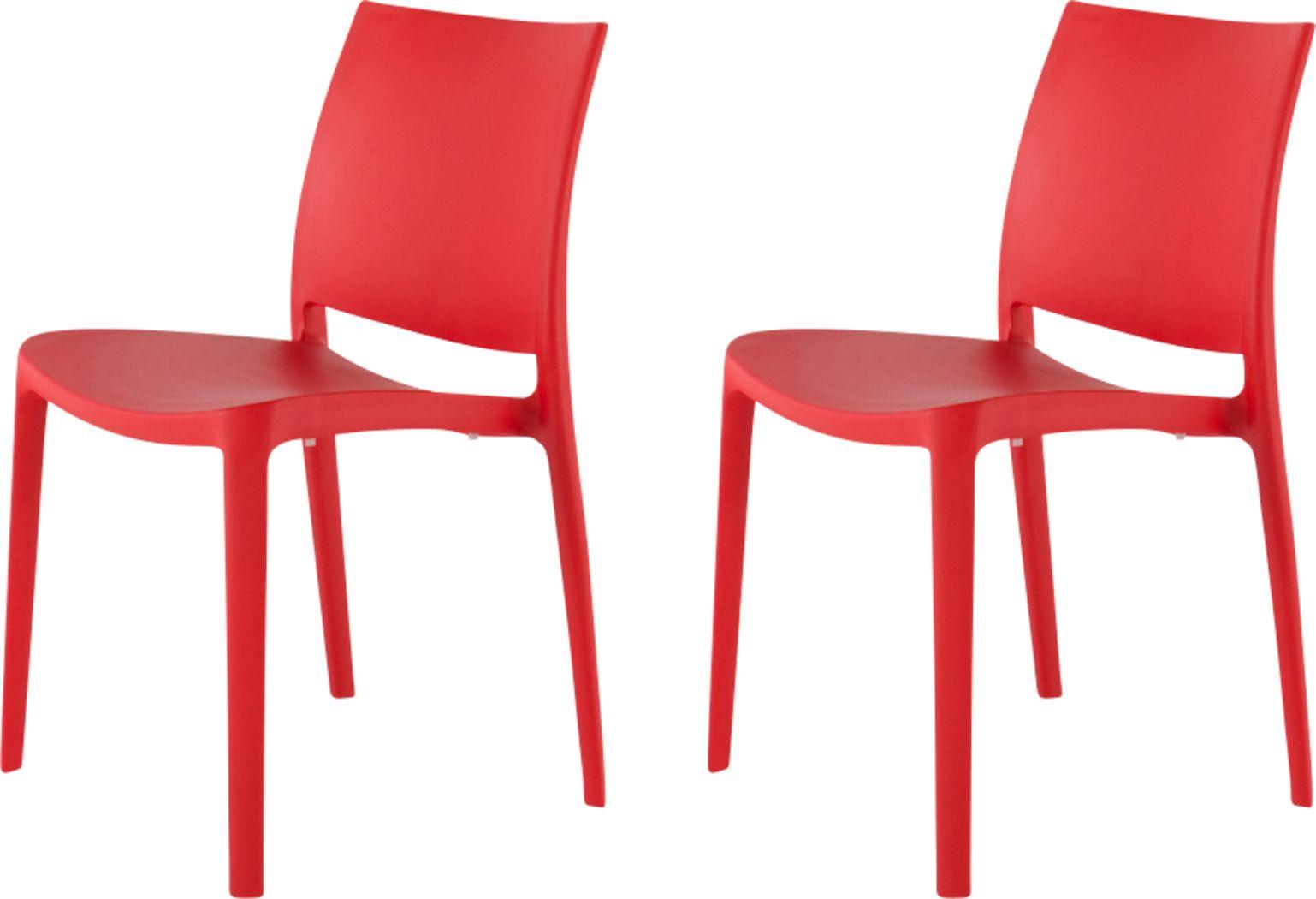 Lagoon Sensilla Red Outdoor Dinning Chair, Set of 2