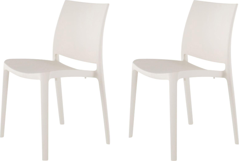 Lagoon Sensilla White Outdoor Dinning Chair, Set of 2