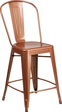 Laird Copper Indoor/Outdoor Counter Height Stool
