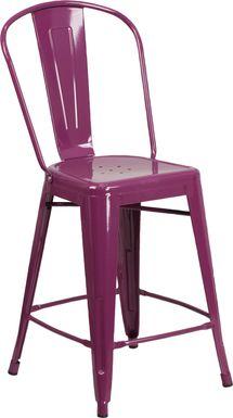 Laird Purple Indoor/Outdoor Counter Height Stool