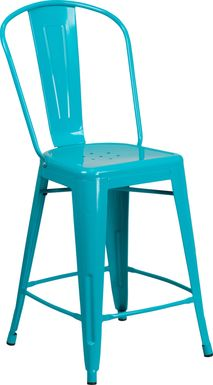 Laird Teal Indoor/Outdoor Counter Height Stool