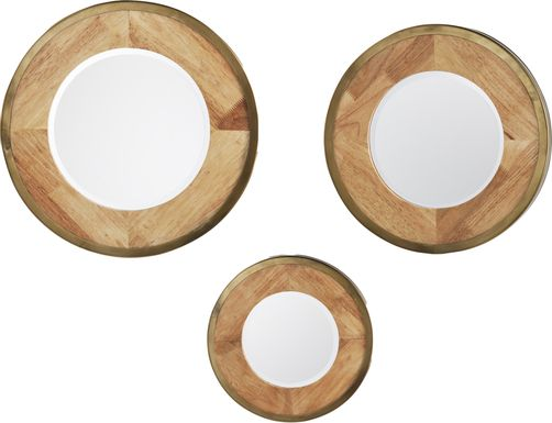 Lakawana Brown Mirror, Set of 3
