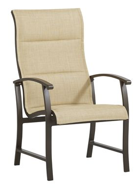 Lake Breeze Aged Bronze Outdoor Sling Dining Chair