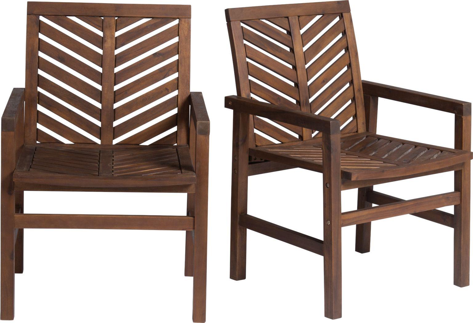 Lake Tana Dark Brown Outdoor Chair, Set of 2