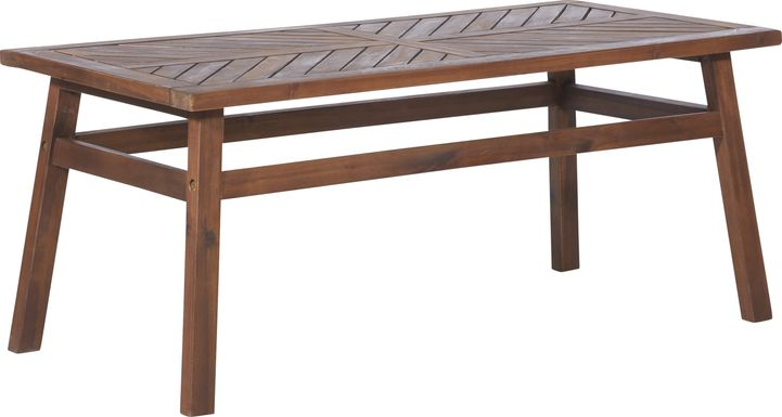 Lake Tana Dark Brown Outdoor Cocktail Table