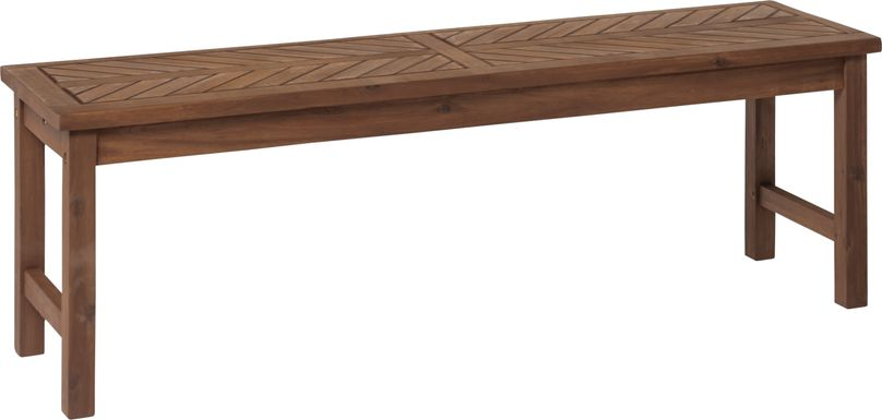 Lake Tana Dark Brown Outdoor Dining  Bench
