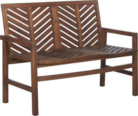Lake Tana Dark Brown Outdoor Loveseat