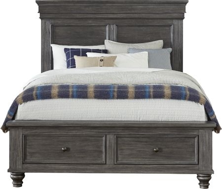Lake Town Gray 3 Pc Queen Panel Bed with Storage