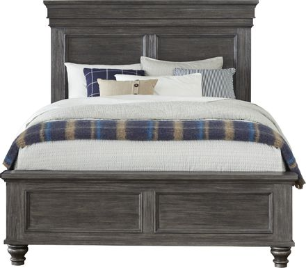 Lake Town Gray 3 Pc Queen Panel Bed