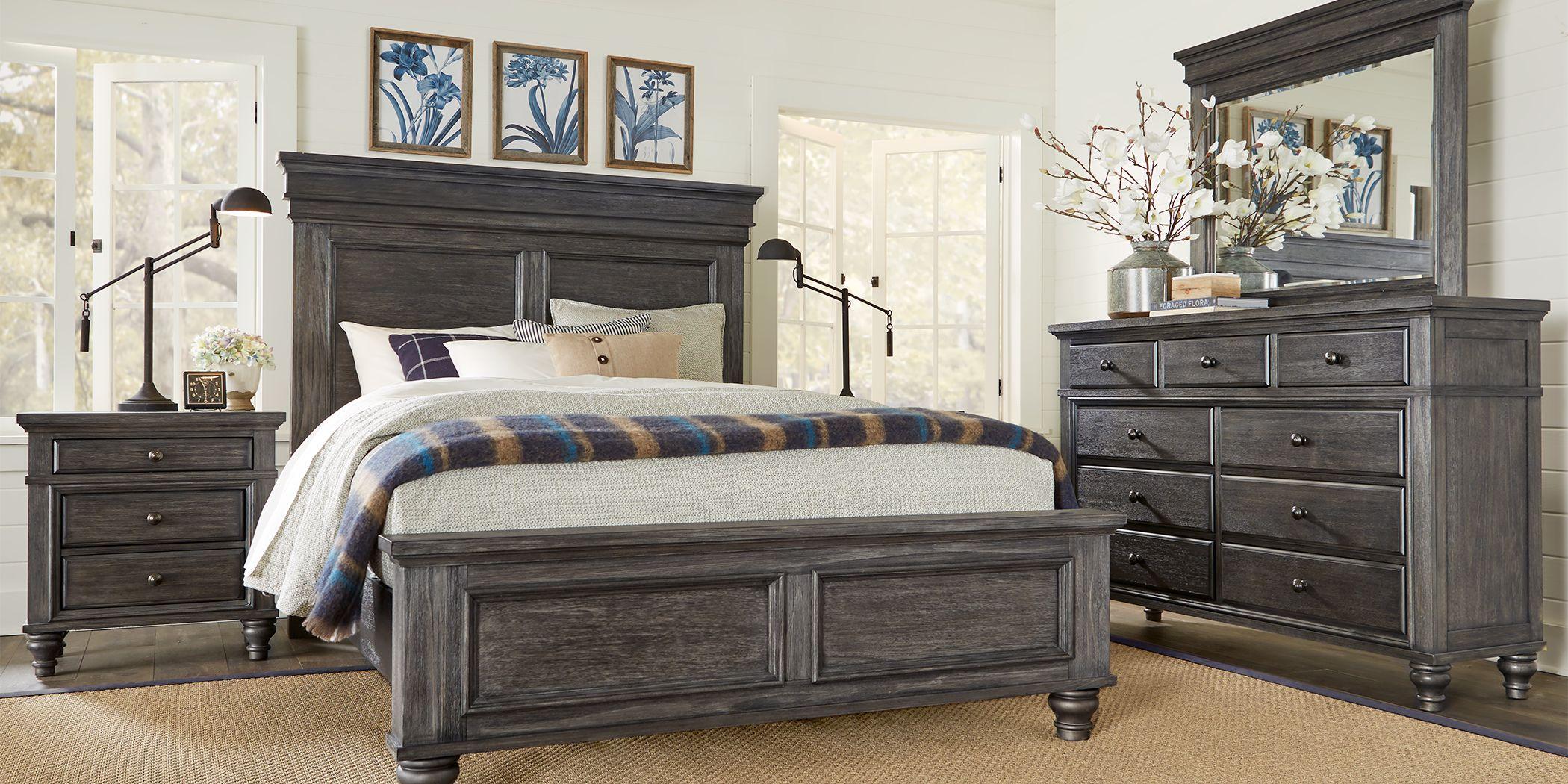 Lake Town Gray 5 Pc Queen Panel Bedroom