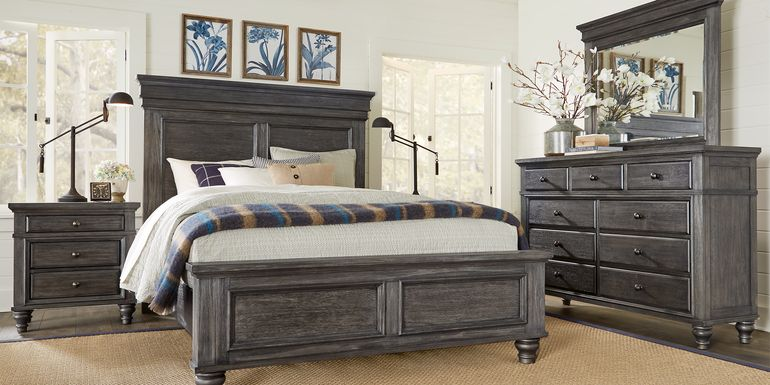 Lake Town Gray 5 Pc Queen Panel Bedroom