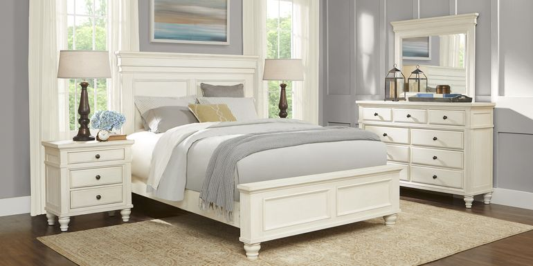 Lake Town Off-White 5 Pc Queen Panel Bedroom