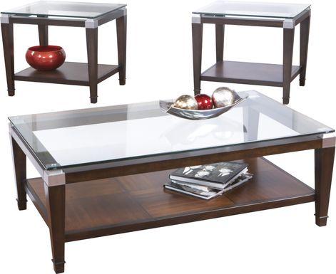 Laketon Walnut 3 Pc Table Set