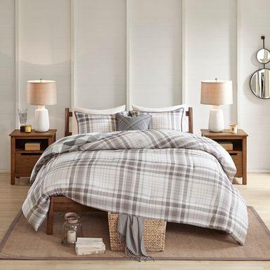 Lakyla Gray 4 Pc King Comforter Set