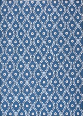 Lalitha Navy 8' x 11' Indoor/Outdoor Rug