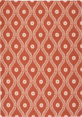 Lalitha Rust 8' x 11' Indoor/Outdoor Rug