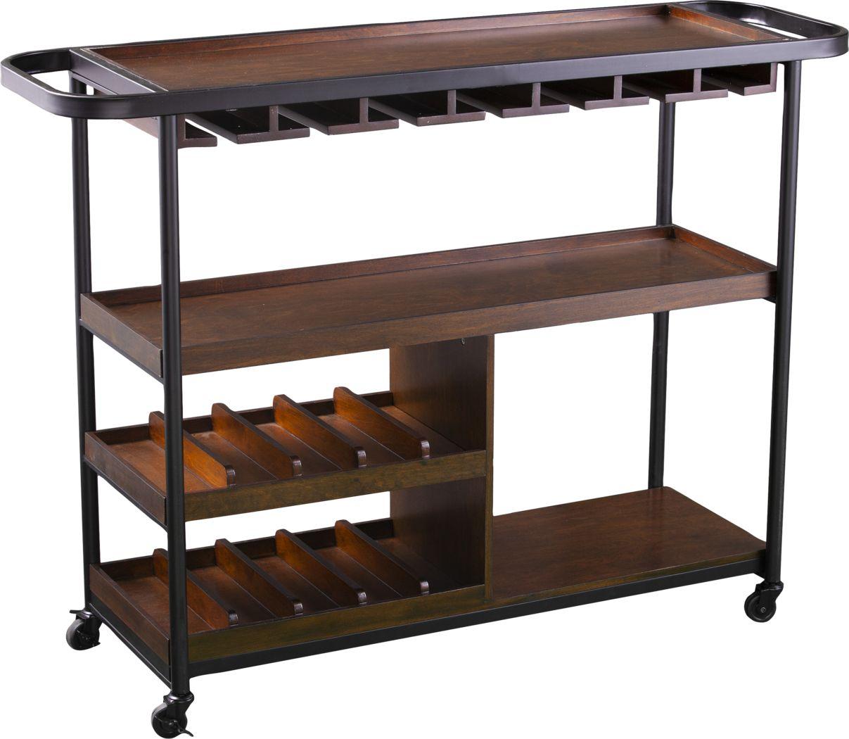 Lamasney Brown Bar Cart