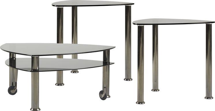 Landmark Black 3 Pc Table Set