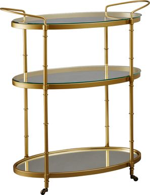 Landrum Gold Bar Cart