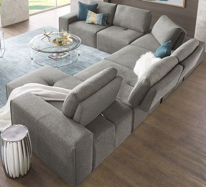 Laney Park Dark Gray 6 Pc Sectional