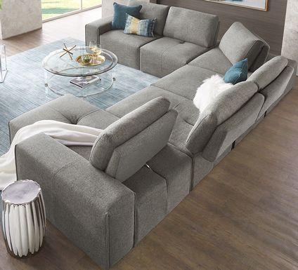 Laney Park Dark Gray 9 Pc Sectional Living Room