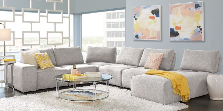Sofia Vergara Sorrento Dove 2 Pc Sectional