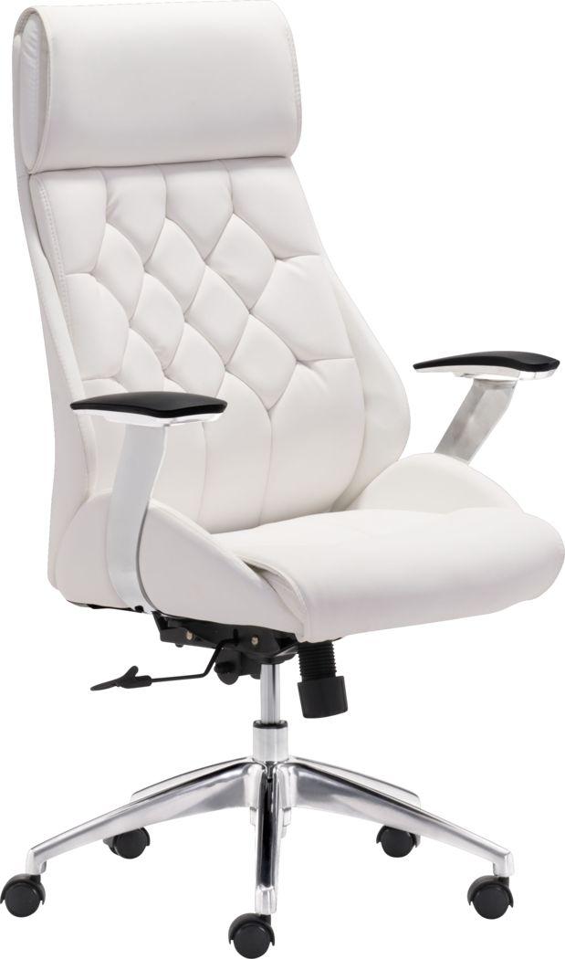 Langley Path White Desk Chair