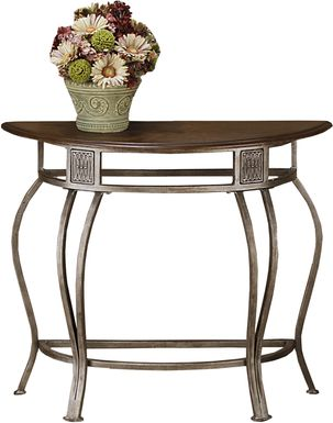 Lanna Gray Demilune Accent Table