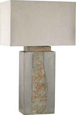 Lannigan Gray Outdoor Table  Lamp